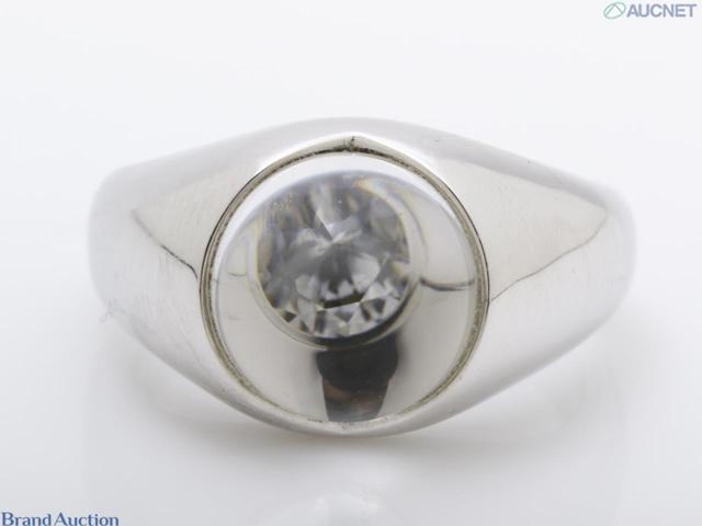 貴金属・指輪・K18・1Pダイヤ 11.4g