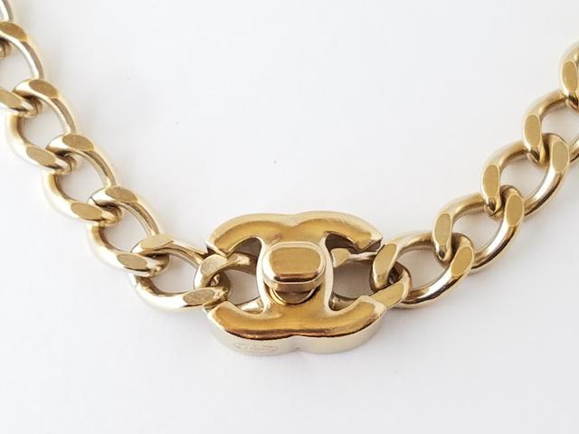 ココ ターンロック ゴールド ネックレス